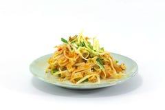Tagliatelle fritte tailandesi Fotografia Stock Libera da Diritti