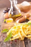 Tagliatelle and ingredient Stock Photography