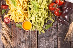 Tagliatelle and ingredient Stock Photos