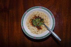 Tagliatelle istanti cucinate Fotografia Stock Libera da Diritti