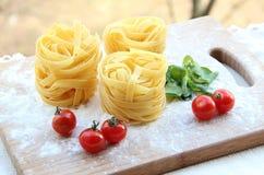 Tagliatelle - Italian Pasta Stock Images