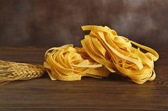Tagliatelle italian pasta Royalty Free Stock Photos