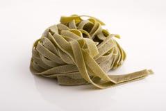 Tagliatelle italiano de la espinaca Imagenes de archivo
