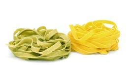 Tagliatelle italiano de las pastas Fotografía de archivo libre de regalías