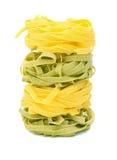 Tagliatelle italiano de las pastas foto de archivo