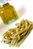 Tagliatelle italiano della pasta Fotografia Stock