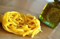 Tagliatelle italiano della pasta Fotografia Stock Libera da Diritti