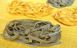 Tagliatelle italiano della pasta Fotografie Stock