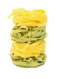 Tagliatelle italien de pâtes photo stock
