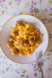 Tagliatelle with mushroom sauce Stock Photography
