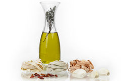 Tagliatelle with olive oil Stock Images