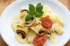 tagliatelle with organic tomato Stock Photo