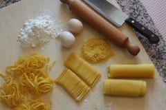 Tagliatelle, origineel Italiaans voedsel Royalty-vrije Stock Foto's