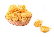 Tagliatelle paglia e fieno at basket Royalty Free Stock Photo
