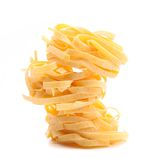 Tagliatelle paglia e fieno tipycal italian Stock Images