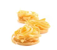 Tagliatelle paglia e fieno tipycal italian pasta Royalty Free Stock Photo