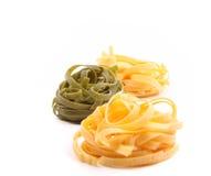 Tagliatelle paglia e fieno tipycal italian pasta Stock Images