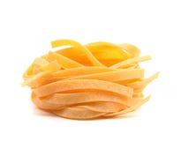 Tagliatelle paglia e fieno tipycal italian pasta. Stock Photo