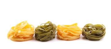 Tagliatelle paglia e fieno tipycal italian pasta. Royalty Free Stock Photography