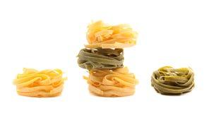 Tagliatelle paglia e fieno tipycal italian pasta. Stock Images