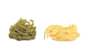 Tagliatelle paglia e fieno typical italian pasta. Stock Image