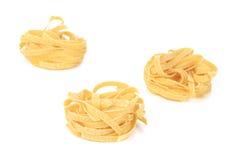 Tagliatelle paglia italian pasta. Stock Image