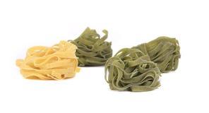 Tagliatelle paglia italian pasta. Royalty Free Stock Photography