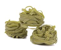 Tagliatelle paglia italian pasta. Royalty Free Stock Images