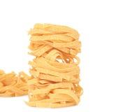 Tagliatelle paglia italian pasta. Stock Images