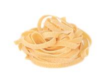 Tagliatelle paglia italian pasta. Royalty Free Stock Photo
