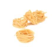 Tagliatelle paglia italian pasta. Stock Photography