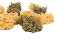 Tagliatelle paglia italian pasta. Stock Photos