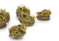 Tagliatelle paglia italian pasta. Stock Photo