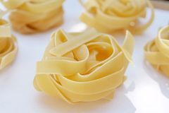 Tagliatelle pasta Stock Photography