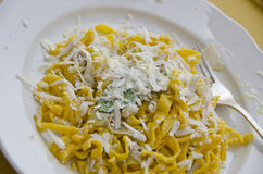 Tagliatelle Pasta in Assisi, Italy royalty free stock photos