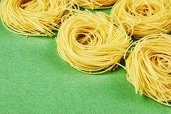 Tagliatelle pasta background Royalty Free Stock Photos