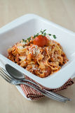 Tagliatelle pasta with bolognese sauce Stock Photography