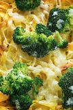 Tagliatelle pasta with broccoli and cheese sauce Stock Photo