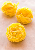 Tagliatelle Pasta. Close-up vertical image stock photography