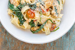 Tagliatelle pasta. Image from the top stock image