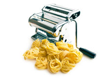 Tagliatelle pasta machine Stock Photography
