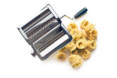 Tagliatelle pasta machine Stock Photos