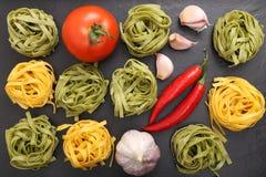 Tagliatelle pasta. Royalty Free Stock Photo