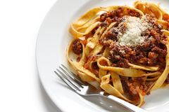 Tagliatelle with ragu bolognese sauce Stock Photography