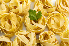 Tagliatelle raw pasta nest egg to dry Stock Images