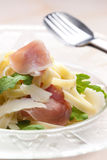 Tagliatelle with ruccolla Stock Images