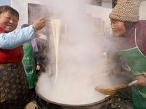 Tagliatelle in shaanxi Fotografia Stock