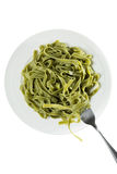 Tagliatelle with Spinach Royalty Free Stock Photo