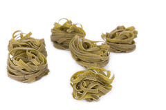 Tagliatelle with spinach. Royalty Free Stock Image