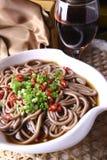 Tagliatelle squisite del foodâbuckwheat della Cina Fotografie Stock